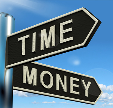 Time and Money street signs